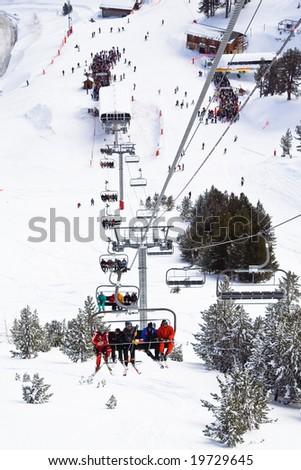 Ski resort Les Arcs. France