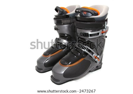 Ski shoes - stock photo