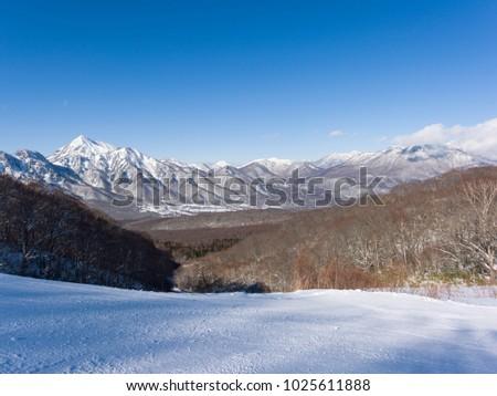 Ski slope slopes #1025611888