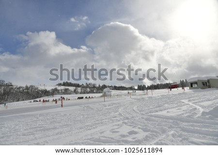 Ski slope slopes #1025611894