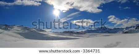 Ski station of Tignes - The french Alps - France.