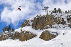 Ski tram in Jackson Hole, Wyoming, USA