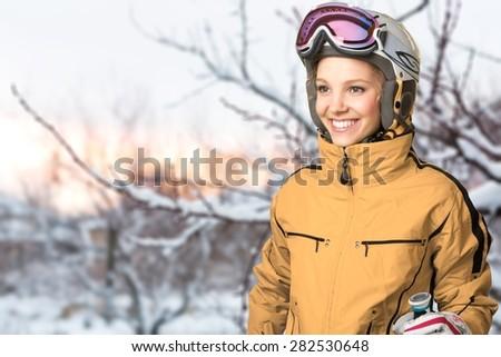 Ski-Wear, Women, Downhill Skiing.