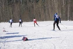 Ski winter vacation snow skiers sun and fun