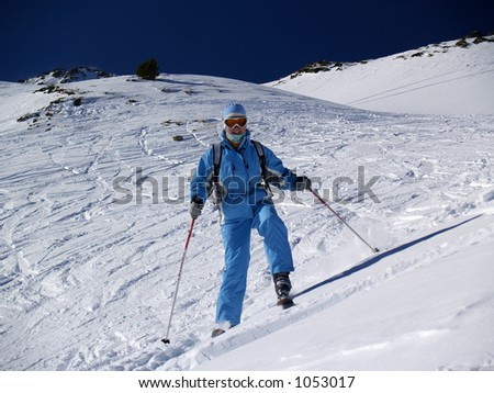 Skier ride out the slope [4]