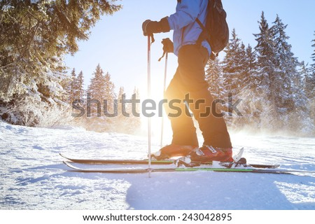 skiing #243042895