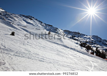 skiing area in santa caterina valfurva / italy