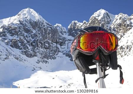 Skiing in High Tatras mountains, Slovakia Stockfoto ©