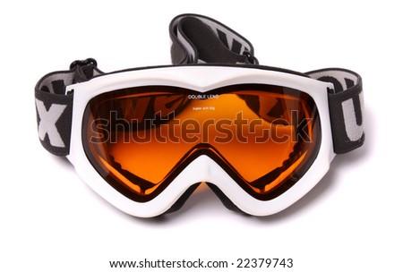 skiing mask isolated on white