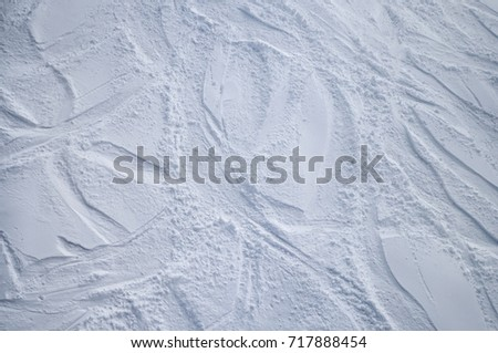 Skiing slope from above