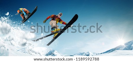 Skiing. Snowboarding. Extreme winter sports. #1189592788
