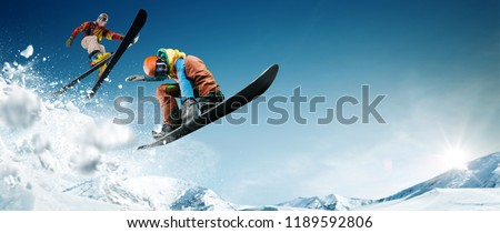 Skiing. Snowboarding. Extreme winter sports. #1189592806