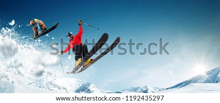 Skiing. Snowboarding. Extreme winter sports. #1192435297