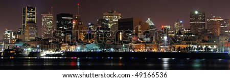 Skiline of Downtown Montreal at Night