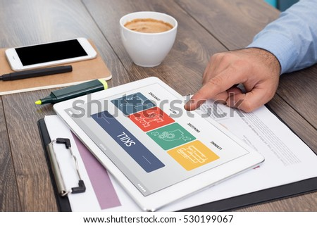 SKILL CONCEPT ON TABLET SCREEN - Shutterstock ID 530199067