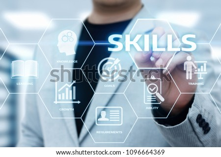 Skill Knowledge Ability Business Internet technology Concept. #1096664369