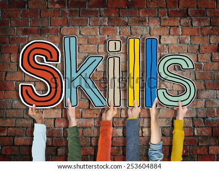 Skills Word Concepts Isolated on Background Concept
