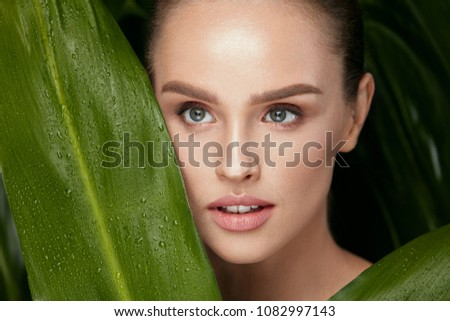 Skin Care. Beautiful Woman With Natural Makeup #1082997143