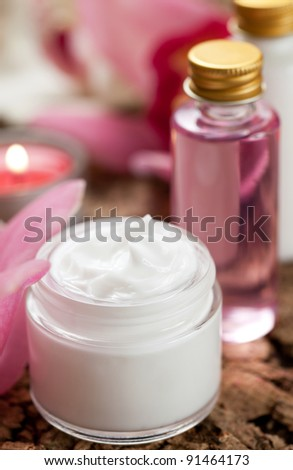 skin cream,flower and cosmetic products