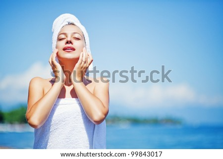 skincare outdoors