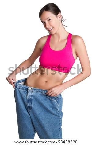 Skinny weight loss woman
