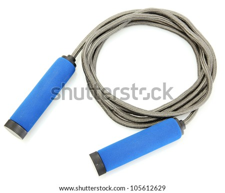 skipping rope isolated on white