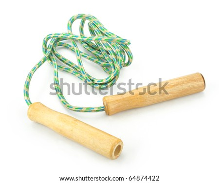 Skipping-rope on a white background