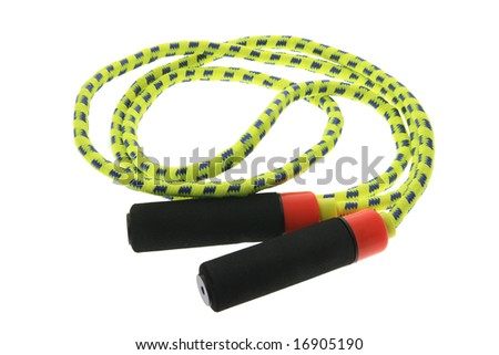 Skipping Rope on Isolated White Background