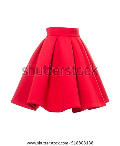 skirt on a white background - Shutterstock ID 518803138