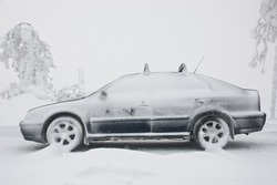 Skoda Octavia car in winter