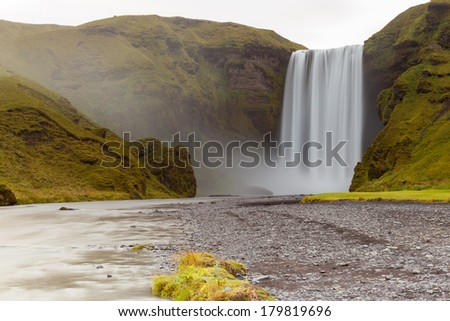 Skogafoss waterfall, South Iceland - stock photo