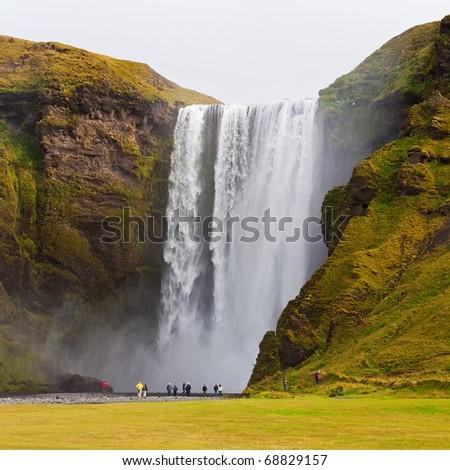 Skogarfoss waterfall on the south of Iceland.