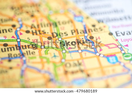 Skokie. Illinois. USA Zdjęcia stock ©