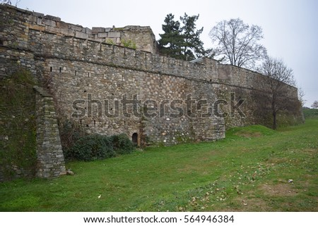 Skopje fortress (Kale fortress) in the Old Town of the capital of Macedonia #564946384