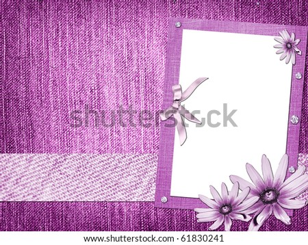 skrapbuking abstraction background flowers jeans