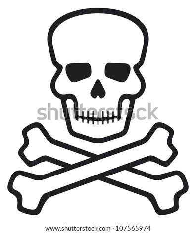 Skull and Crossbones Poison Symbol