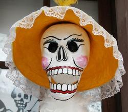 Skull in a hat
