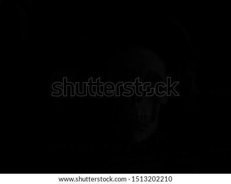 Skull in deep deep darkness #1513202210