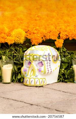 """skull in offering  """"dia de muertos"""" death´s day"""