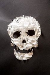 Skull symbol collected from plastic trash
