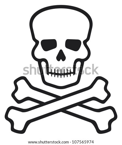 skull with crossed bones (pirate symbol)