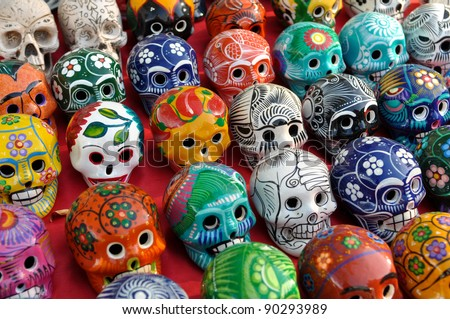 Skulls for Sale at Chichen Itza