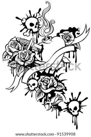 stock-photo-skulls-with-roses-banner-and-the-sacred-heart-91539908.jpg
