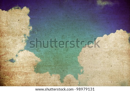 Sky Abstract background,Vintage style