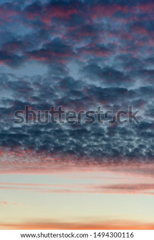 Sky after sunset with atmospheric clouds #1494300116