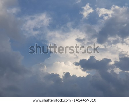 sky and cloud beautiful landscape #1414459310