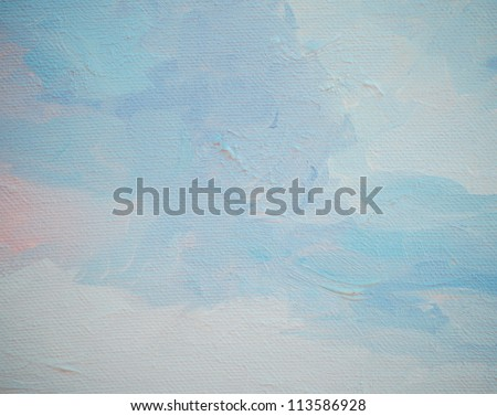 sky and clouds, ���§ainting by oil on a canvas,  illustration,background