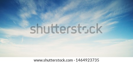 Sky and clouds. Bright air #1464923735