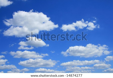 Sky and clouds for background #14874277