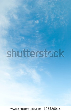 Sky and clouds in the bright day